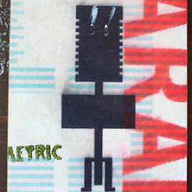 Talii- Krydsfiner, akryl, print, papir, lak 14 x 16 cm
