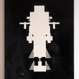 Talisman - Træfiber, akryl, papir, lak 30 x 40 cm
